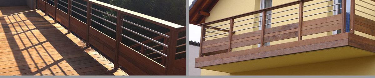Vente de garde corps rambardes et escaliers en bois pos for Balustrade bois exterieur